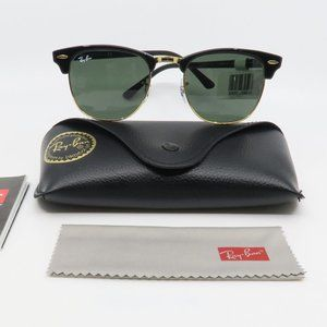 RB 3016 W03/65 Ray-Ban Black Clubmaster Sunglasses